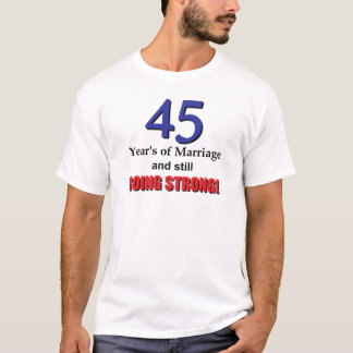 T-shirt quarante-cinquième Anniversaire