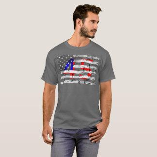 T-shirt quarante-cinquième Le Président Trump Fan Flag