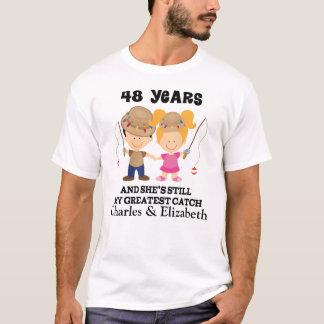 T-shirt quarante-huitième Cadeau fait sur commande