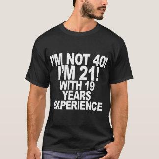T-shirt quarantième Anniversaire