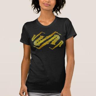T-shirt Quatre saxos bariolés