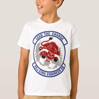 T-shirt quatre-vingt-douzième Escadron d'ingénieur civil -