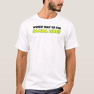 T-shirt Quelle manière à la ligne de samba