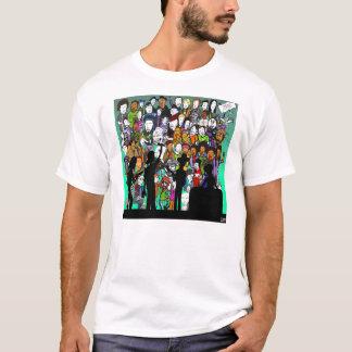 T-shirt Question de musique de magazine de 16 blocs