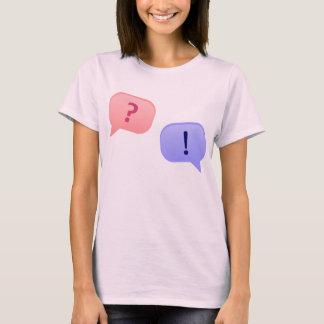 T-shirt Question, réponse