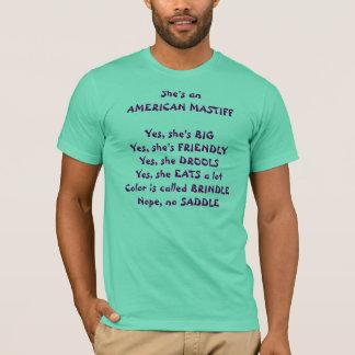 T-shirt Questions de mastiff