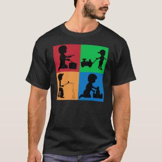 T-shirt Queues de bouts, d'escargots et de chiots