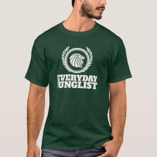 T-shirt quotidien de Junglist - vert de tambour et