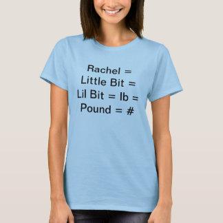 T-shirt Rachel = peu de peu = Lil a mordu = livre = livre