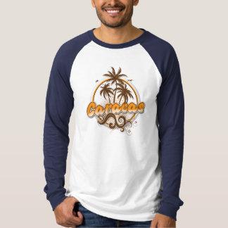 T-shirt Raglan de base de douille de Caracas long