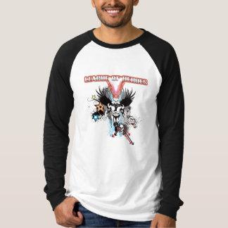 T-shirt Raglan de base de douille de super héros de LOH