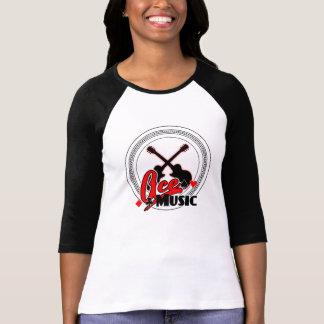 T-shirt Raglan de douille de la chemise 3/4 des femmes de