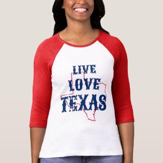 T-shirt Raglan vivant du Texas d'amour