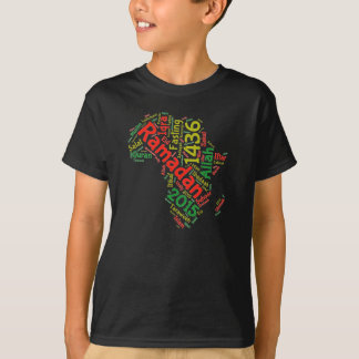 T-shirt Ramadan Afrique 2015 tee - shirt de 1436 enfants