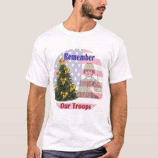 T-shirt Rappelez-vous notre chemise de vacances de troupes