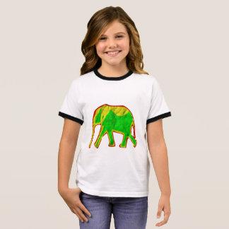 T-shirt Ras-de-cou Petit éléphant africain