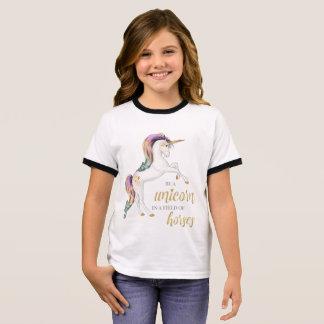 T-shirt Ras-de-cou Soyez toujours une pièce en t de licorne