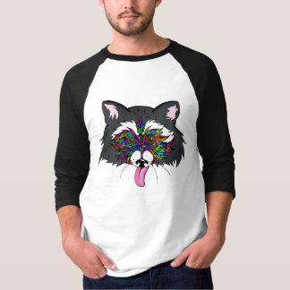 T-shirt Raton laveur d'arc-en-ciel