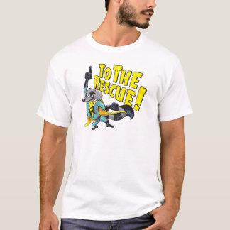T-shirt Raton laveur de super héros à la délivrance