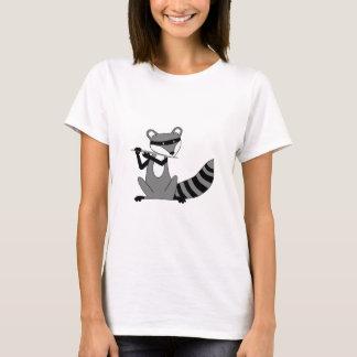 T-shirt Raton laveur jouant la cannelure
