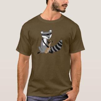 T-shirt Raton laveur jouant le saxophone