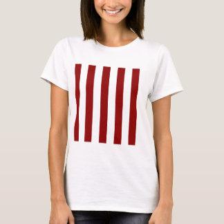 T-shirt Rayures - blanches et rouge foncé