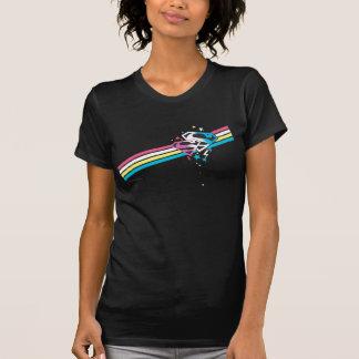 T-shirt Rayures d'arc-en-ciel de Supergirl