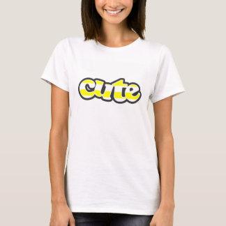 T-shirt Rayures horizontales jaunes électriques
