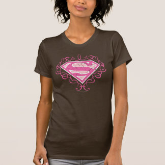 T-shirt Rayures roses de Supergirl