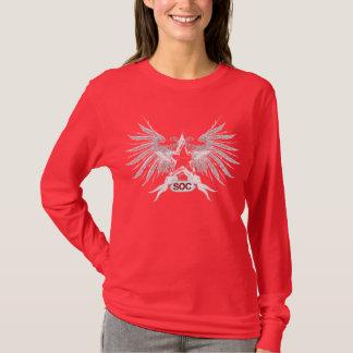 T-shirt Réalité de fabrication rouge de rêves de longue
