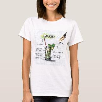 T-shirt Recette de Mojito - cadeau de cocktail