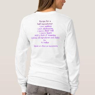 T-shirt Recette pour demi de marathoner