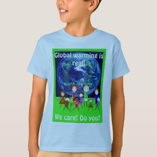 T-shirt Réchauffement climatique nous nous inquiétons des