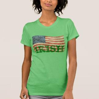 T-shirt Regard peint rustique américain irlandais