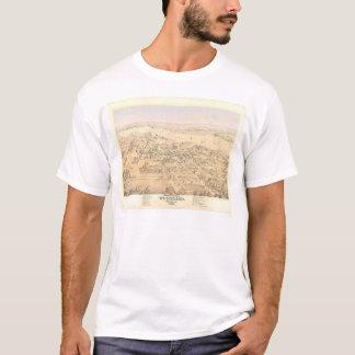 T-shirt Région boisée, carte panoramique de CA (1874A)