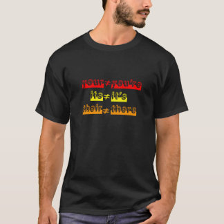 T-shirt Règles de grammaire