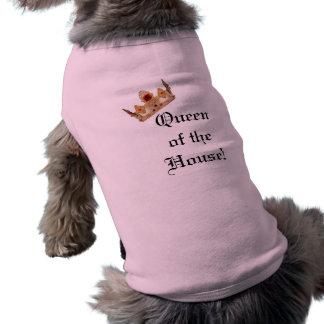 T-shirt Reine de la chemise de chien de Chambre