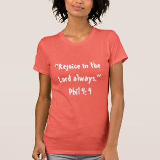 """T-shirt """"Réjouissez-vous"""" l'écriture sainte T des femmes"""