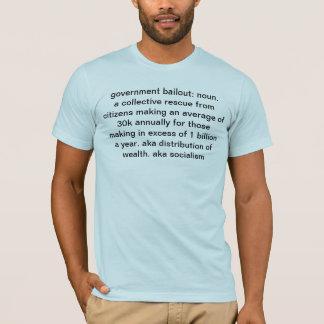 T-shirt renflouement de gouvernement : délivrance
