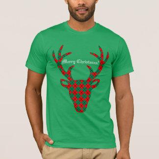T-shirt Renne personnalisé de Jacquard de Noël