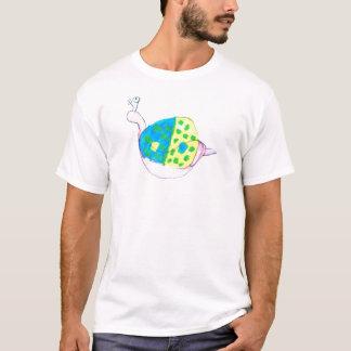 T-shirt repéré d'escargot de coquille