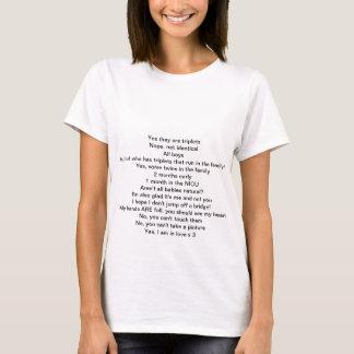 T-shirt Réponses aux questions de triplets