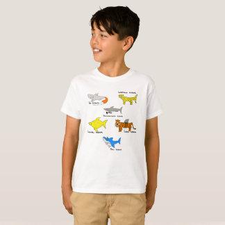 T-shirt Requins comiques pour le kidz