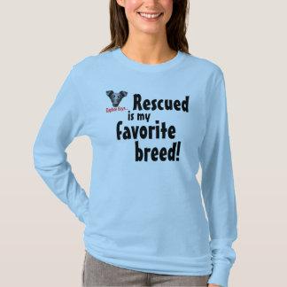 T-shirt Rescued est mon favori