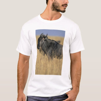 T-shirt Réservation de jeu du Kenya, Mara de masai, gnou