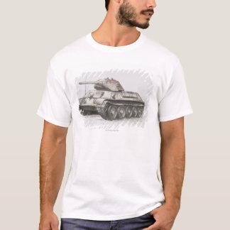 T-shirt Réservoir d'armée T-34 russe, vue de côté