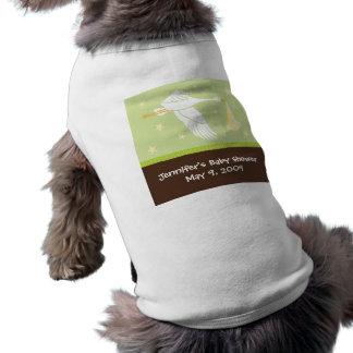 T-shirt Réservoir de chien de baby shower de cigogne - ver
