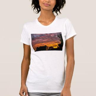 T-shirt Réservoir de coucher du soleil pour des femmes