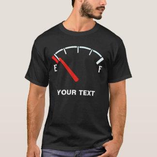 T-shirt Réservoir plein de gaz de jauge de carburant/vides
