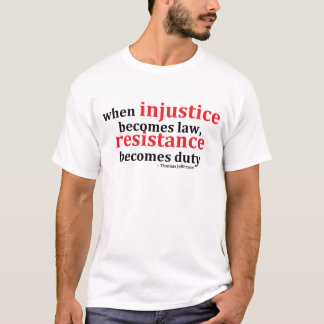 T-shirt Résistance d'injustice